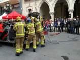 Demostración de un rescate en Terrassa