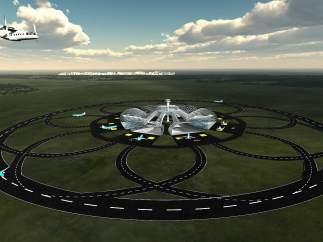 Investigan cómo desarrollar aeropuertos con pistas de aterrizaje circulares