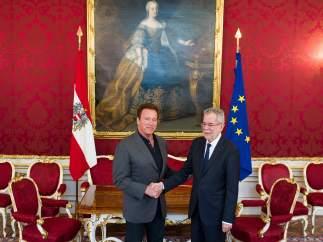 Schwarzenegger en Austria, su país natal