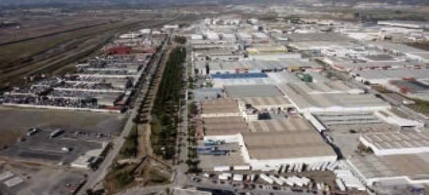 Vista del polígono industrial Villa Rosa de Málaga