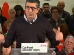 """Patxi López critica """"los grandes mítines, movilizaciones de buses y grandes arropes del aparato"""""""