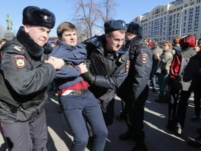 Manifestaciones Moscú (Rusia)