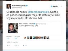 """Rajoy a Sánchez Arévalo: """"Confío en poder compaginar mejor la lectura y el cine"""""""
