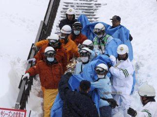Avalancha mortal en Japón