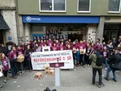 """La CUP asume y justifica """"políticamente"""" la acción de Arran contra la sede del PP"""