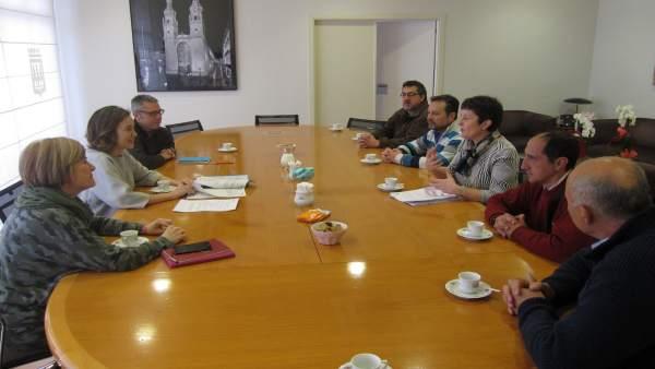 Gamarra, durante la reunión con Ardacea