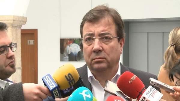 Guillermo Fernández Vara, presidente de Extremadura