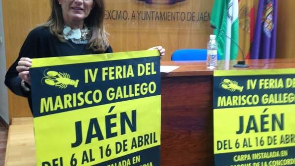 Presentación de la IV Feria del Marisco Gallego en Jaén.