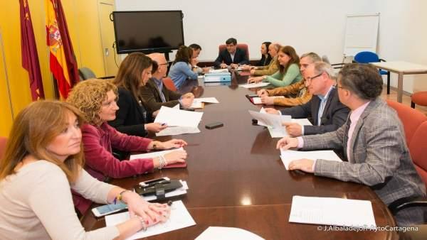 Comisión de Hacienda e Interior, Tesorería e Intervención de Cartagena
