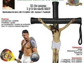 Cartel del torneo de pádel de Albox, en Almería.