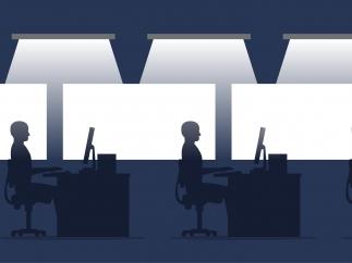 Posturas saludables en la oficina
