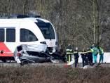 Dos fallecidos en un accidente de tren en un paso a nivel en Holanda