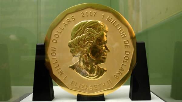 La mayor moneda de oro del mundo, robada del Bod-Museum en Berlín