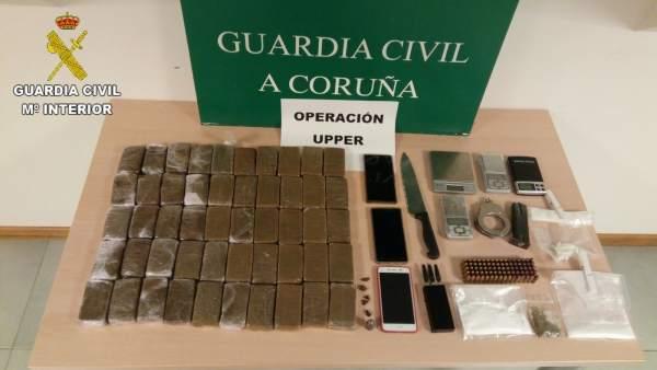 Droga incautada en A Coruña