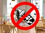 Restaurante vegano prohibe biberones con leche de vaca