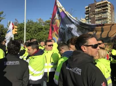 Protesta de estibadores de Barcelona