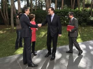 Soraya Sáenz de Santamaría, Mariano Rajoy, Íñigo de la Serna y Enric Millo