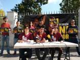 Rueda de prensa de jóvenes investigados por quemar fotos del rey en Palma