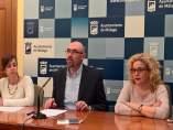 Diputada provincial teresa sánchez y los ediles ayto málaga eduardo y reme IU