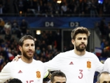 Foto de equipo de España ante Francia