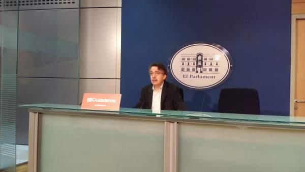 El portavoz de Cs, Xavier Pericay