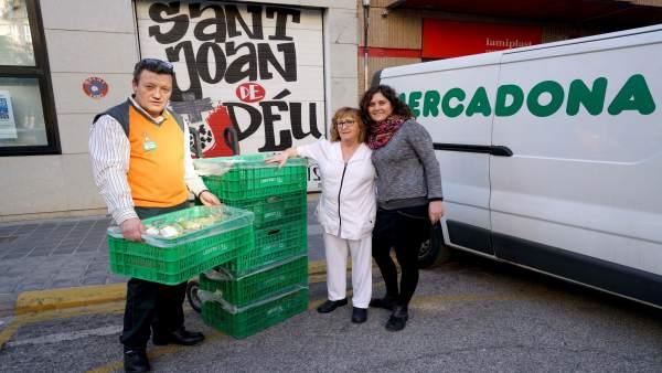 Mercadona i Sant Joan de Déu de València signen un conveni per a la donació diària d'aliments