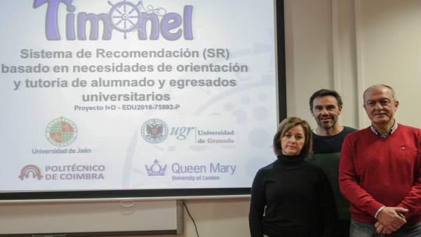 Los investigadores de la UJA que participan en el proyecto Timonel.