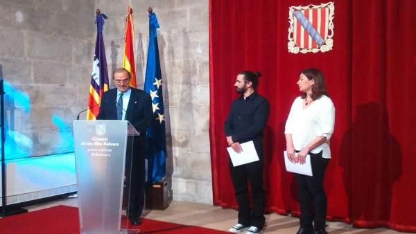 Antoni Diéguez, Baltasar Picornell y Francina Armengol