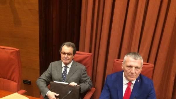 El expresident Artur Mas y Jean Castel (Cs).