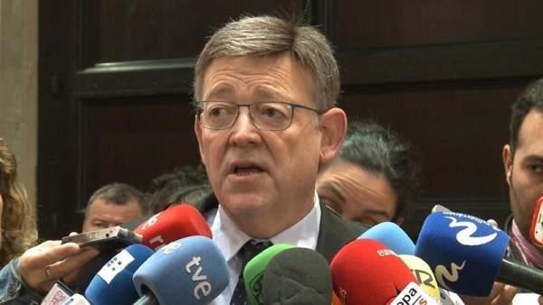 Ximo Puig en declaraciones a los medios en una imagen de archivo