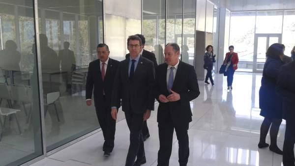 El presidente de la Xunta ene l campus de Vigo