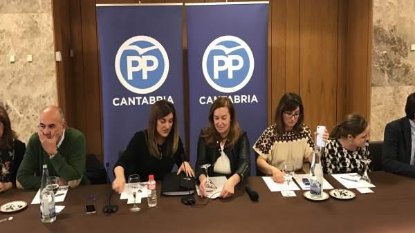 Buruaga preside su primer Comité Ejecutivo del PP