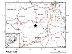 Girona registra un seísmo de magnitud 3 'levemente percibido' pero sin daños