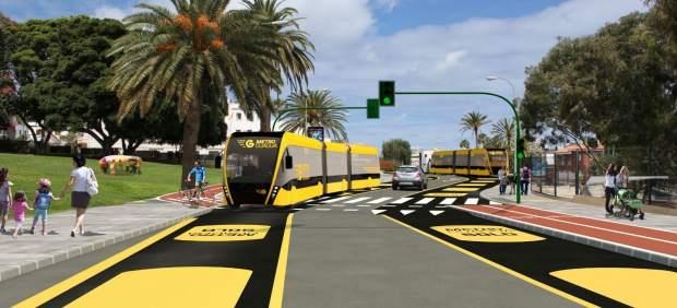 Las obras de la MetroGuagua de Las Palmas de Gran Canaria comenzarán este verano en Pío XII y ...