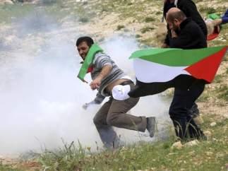 Manifestación en Cisjordania, Palestina