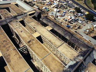 Los daños en el Pentágono, a vista de pájaro
