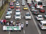 Manifestación de autoescuelas en Madrid