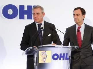 El presidente de OHL, Juan Villar-Mir, y su consejero delegado