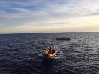 Rescate de inmigrantes mediterráneo