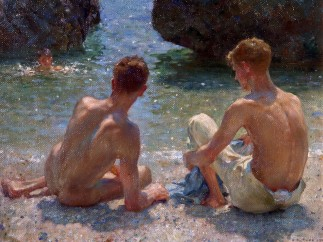 Henry Scott Tuke (1858-1929) - The Critics, 1927