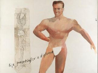 David Hockney, Life Painting for a Diploma, 1962