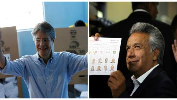 Guillermo Lasso y Lenín Moreno