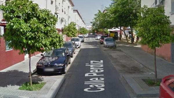 Calle Perdiz, en Los Pajaritos