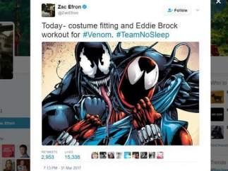 Zac Efron será Venom