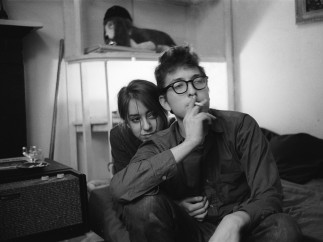 Ted Russell - Dylan and Suze Rotolo. 161 W 4th St. 1961