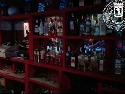 Desalojo de menores en un bar