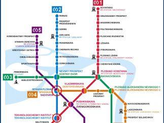 Plano del metro de San Petersburgo