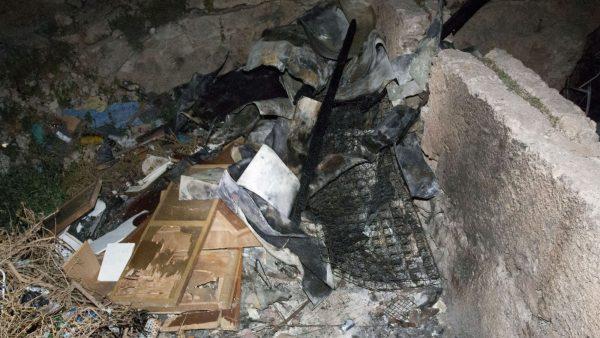 Incendio en una cueva de Almería
