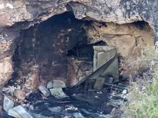 Incendio cueva de Almería