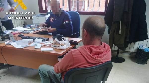Imagen del detenido